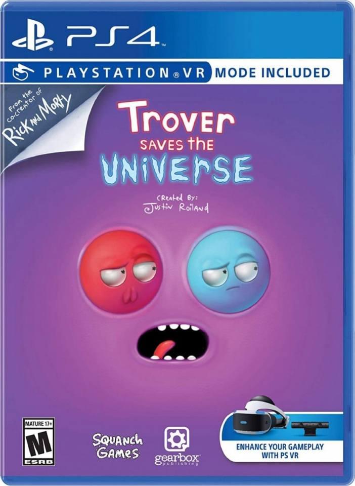 trover saves the universe retail ps4 cover limitedgamenews.com