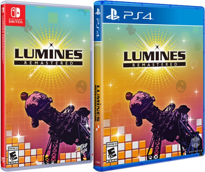 lumines remastered standard edition limited run games retail ps4 nintendo switch cover limitedgamenews.com