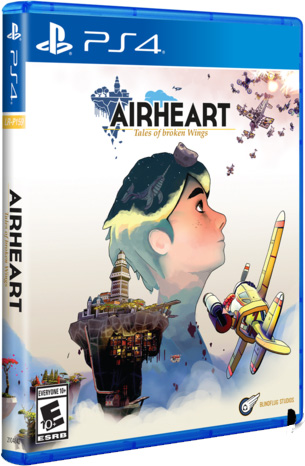 airheart tales of broken wings retail limited run games ps4 cover limitedgamenews.com