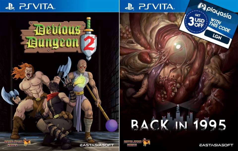 devious dungeon 2 back in 1995 limited edition asia multi-language retail eastasiasoft ps vita cover limitedgamenews.com