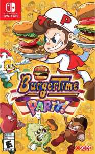 burgertime party retail nintendo switch cover limitedgamenews.com
