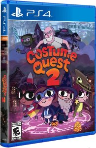 costume quest 2 physical release limited run games ps4 cover limitedgamenews.com