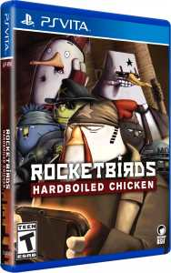 rocketbirds hardboiled chicken physical release limited run games ps vita cover limitedgamenews.com