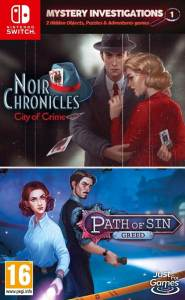 mystery investigations 1 noir chronicles city of crime path of sin greed retail european release just for games nintendo switch cover limitedgamenews.com