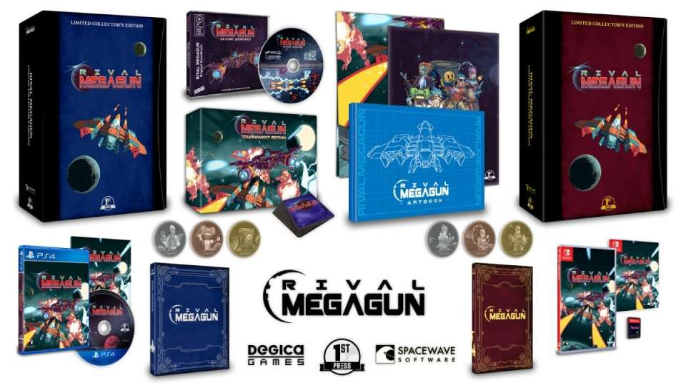 rival megagun physical release first press games collectors edition ps4 nintendo switch cover limitedgamenews.com