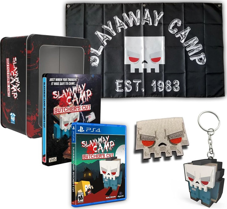 slayaway camp butchers cut deluxe edition physical release physicality games ps4 cover limitedgamenews.com