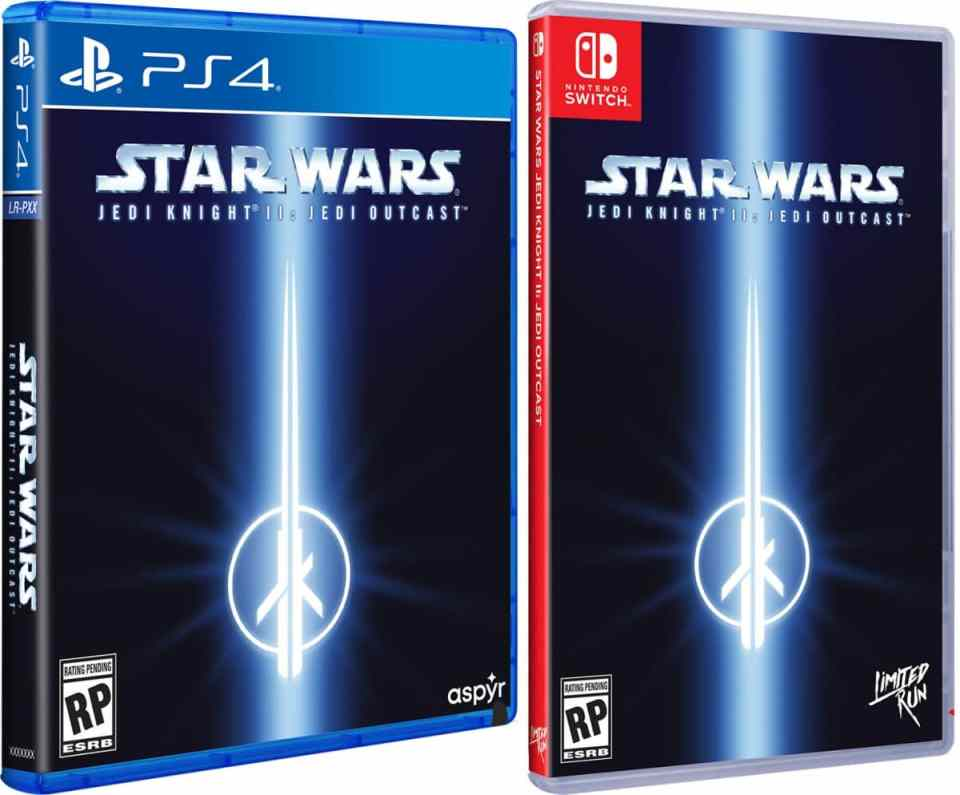 star wars jedi knight ii jedi outcast physical release limited run games ps4 nintendo switch cover limitedgamenews.com