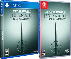 star wars jedi knight jedi academy physical release limited run games ps4 nintendo switch cover limitedgamenews.com