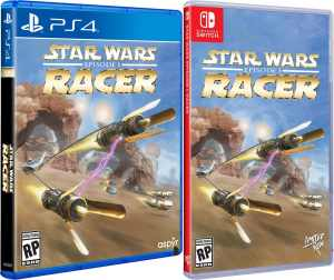 star wars episode i racer physical release limited run games standard edition ps4 nintendo switch cover limitedgamenews.com