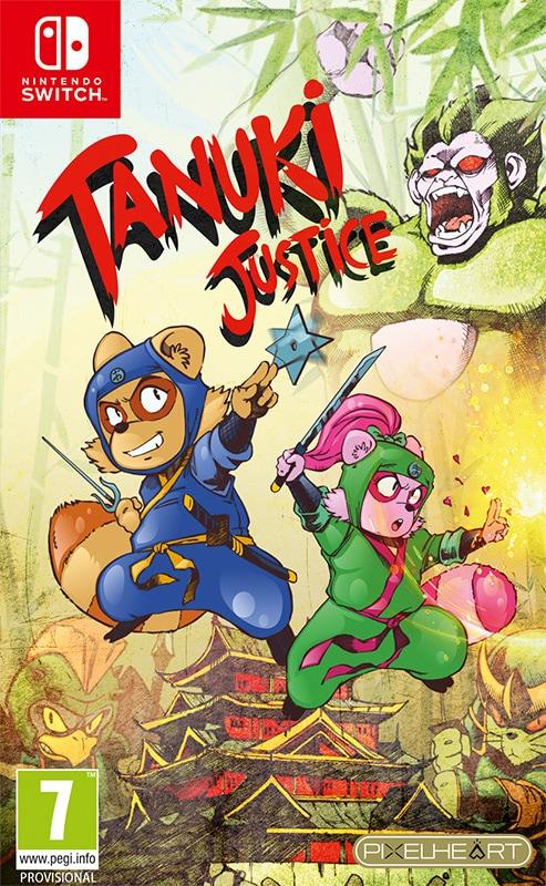 tanuki justice retail pixelheart nintendo switch cover www.limitedgamenews.com