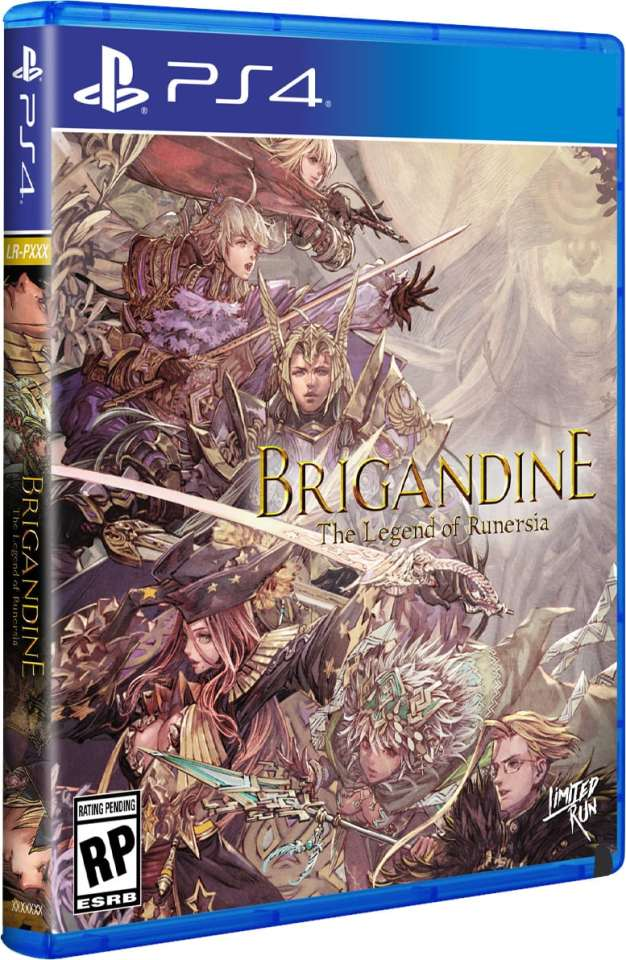 brigandine the legend of runersia retail release limited run games standard edition playstation 4 cover www.limitedgamenews.com