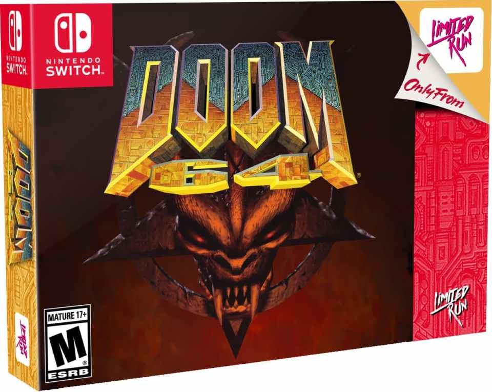 doom 64 retail release classic edition limited run games playstation 4 nintendo switch cover www.limitedgamenews.com