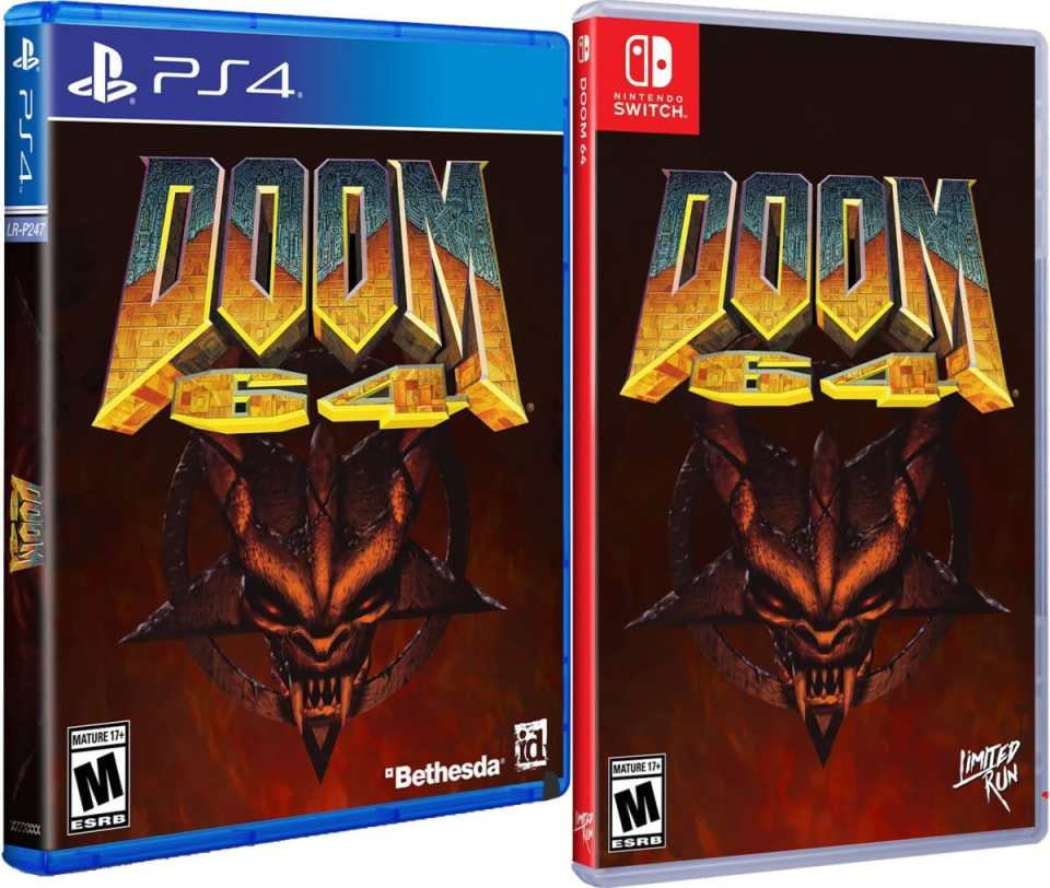 doom 64 retail release standard edition limited run games playstation 4 nintendo switch cover www.limitedgamenews.com