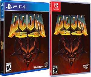 doom 64 retail release standard edition limited run games playstation 4 nintendo switch cover www.limitedgamenews.com