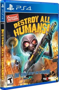destroy all humans one giant step on mankind retail limited run games playstation 4 cover www.limitedgamenews.com