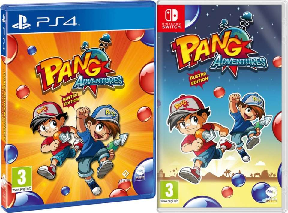 pang adventures buster edition retail meridiem games playstation 4 nintendo switch cover www.limitedgamenews.com
