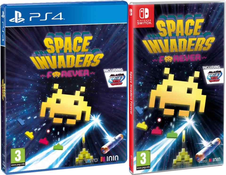 space invaders forever retail inin games playstation 4 nintendo switch cover www.limitedgamenews.com