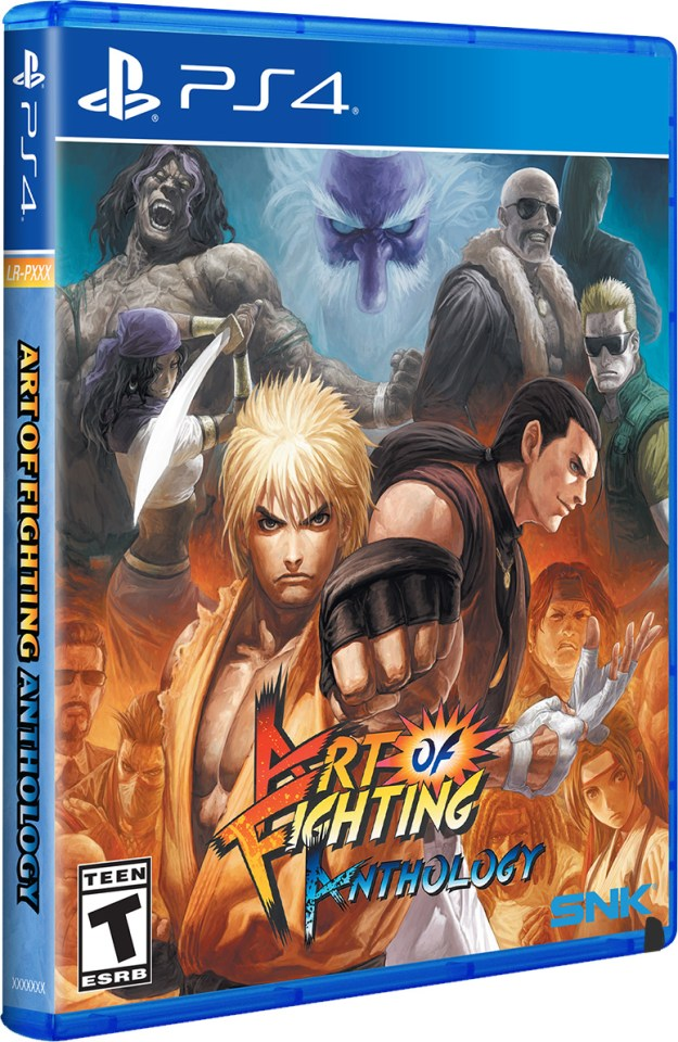 art of fighting physical retail release standard edition limited run games playstation 4 cover www.limitedgamenews.com