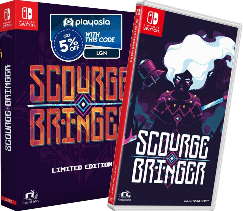 scourgebringer limited edition standard edition lgn coupon affiliate link nintendo switch retail physical asia multi-language release nintendo switch cover-www.limitedgamenews.com