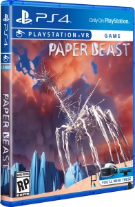 paper beast standard edition playstation vr physical retail release limited run games ps4 psvr cover www.limitedgamenews.com