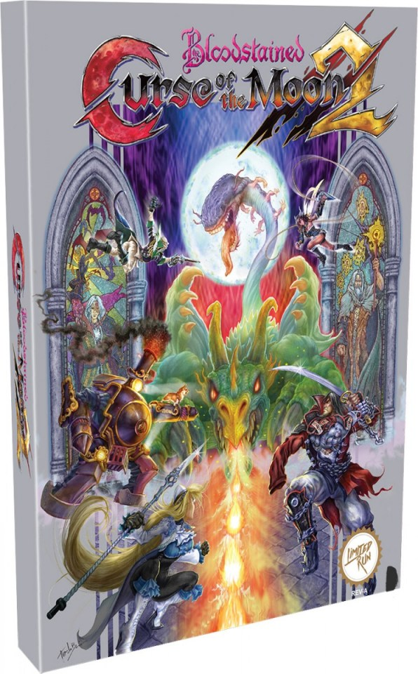 bloodstained curse of the moon 2 physical retail release classic edition limited run games playstation 4 nintendo switch cover www.limitedgamenews.com