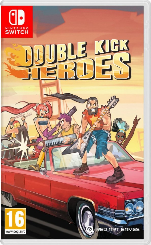 double kick heroes physical retail release red art games standard edition nintendo switch cover www.limitedgamenews.com