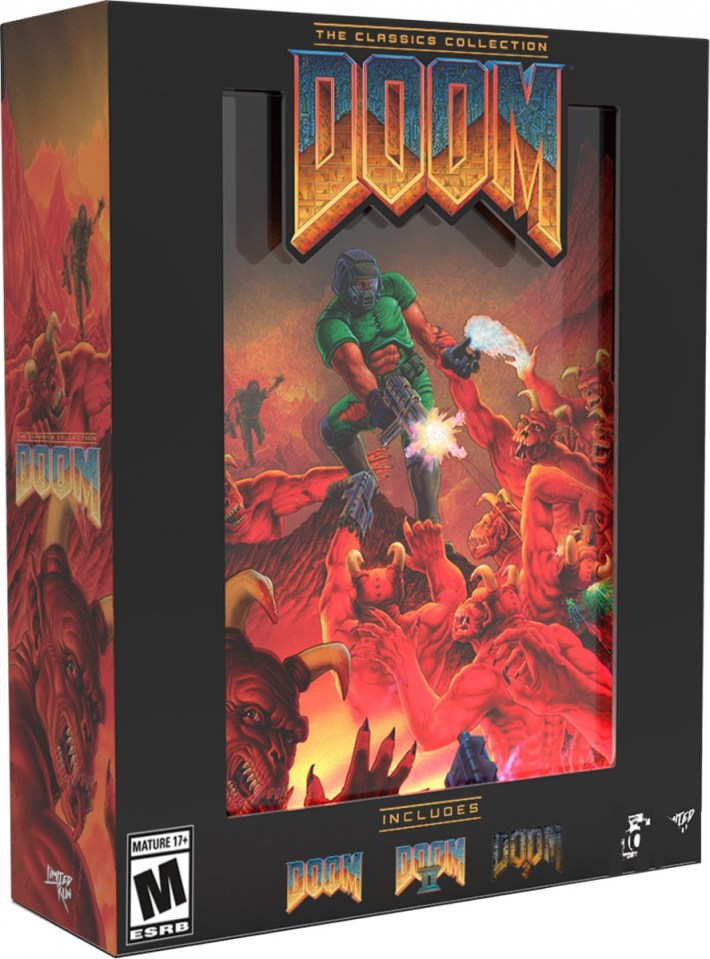 doom the classics collection physical retail release limited run games collectors edition playstation 4 nintendo switch cover www.limitedgamenews.com