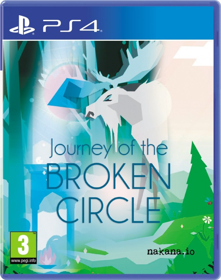 journey of the broken circle physical retail release red art games playstation 4 cover www.limitedgamenews.com