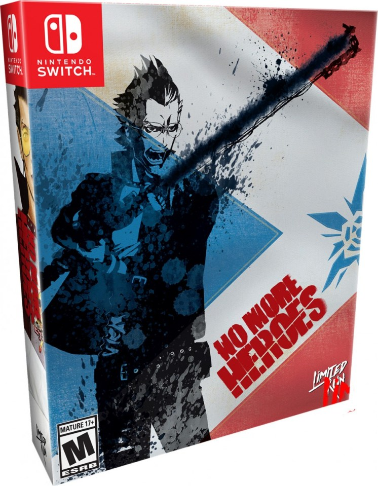 no more heroes physical retail release collectors edition nintendo switch cover www.limitedgamenews.com