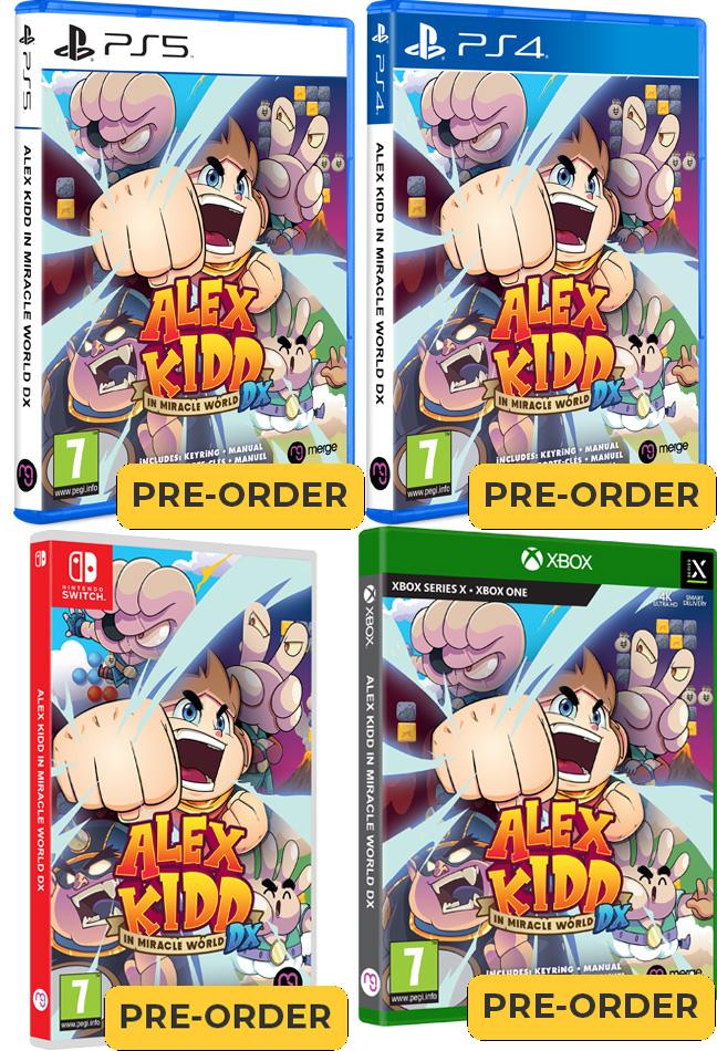 alex kidd in miracle world dx standard edition merge games xbox one playstation 4 playstation 5 nintendo switch cover www.limitedgamenews.com