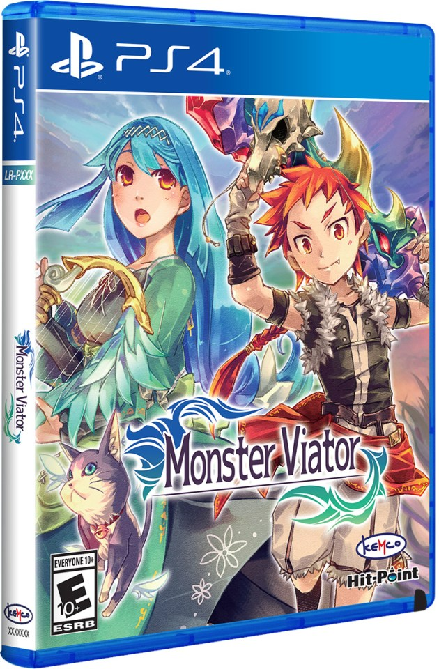 monster viator physical retail release limited run games playstation 4 cover www.limitedgamenews.com