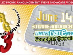 lrg3 2021 limited run games e3 2021 press conference complete overview www.limitedgamenews.com