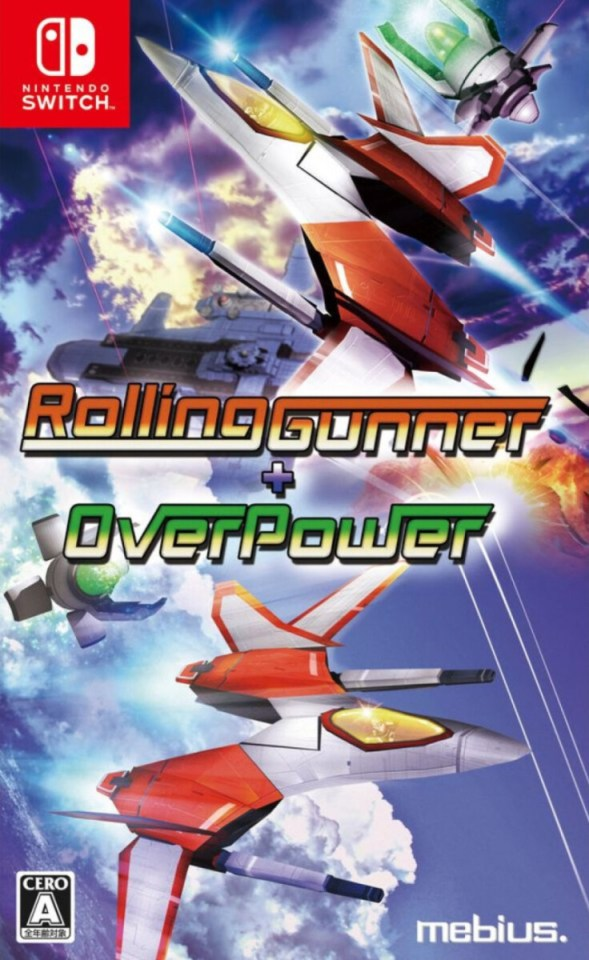 rolling gunner + over power physical retail release asia multi-language nintendo switch cover www.limitedgamenews.com