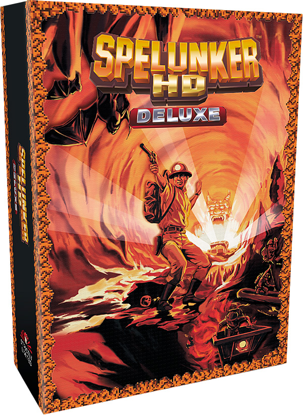 spelunker hd deluxe collectors edition physical retail release strictly limited games playstation 4 nintendo switch cover www.limitedgamenews.com