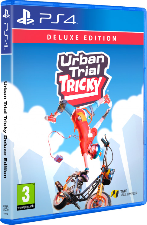 urban trial tricky deluxe edition physical retail release red art games playstation 4 cover www.limitedgamenews.com