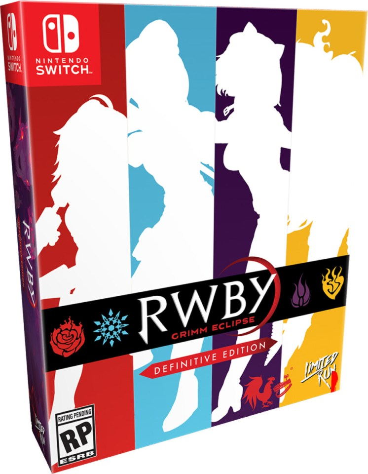 rwby grimm eclipse definitive edition collectors edition physical retail release limited run games nintendo switch cover www.limitedgamenews.com