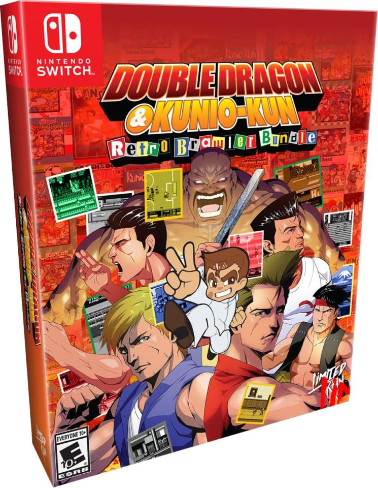 double dragon & kunio kun retro brawler bundle classic edition physical retail release limited run games nintendo switch cover www.limitedgamenews.com