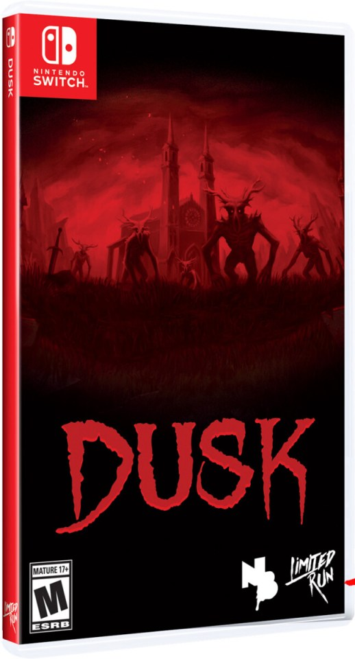 dusk physical retail release limited run games nintendo switch cover www.limitedgamenews.com