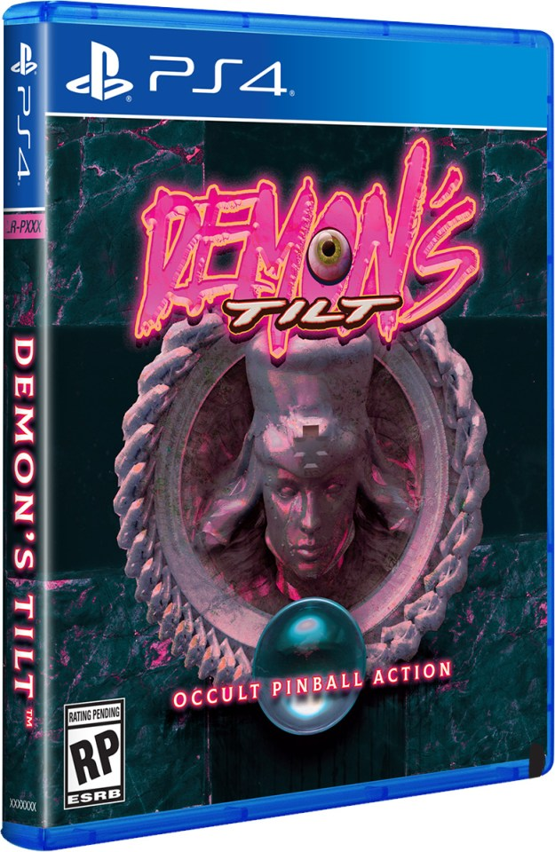 demons tilt physical retail release limited run games playstation 4 cover www.limitedgamenews.com