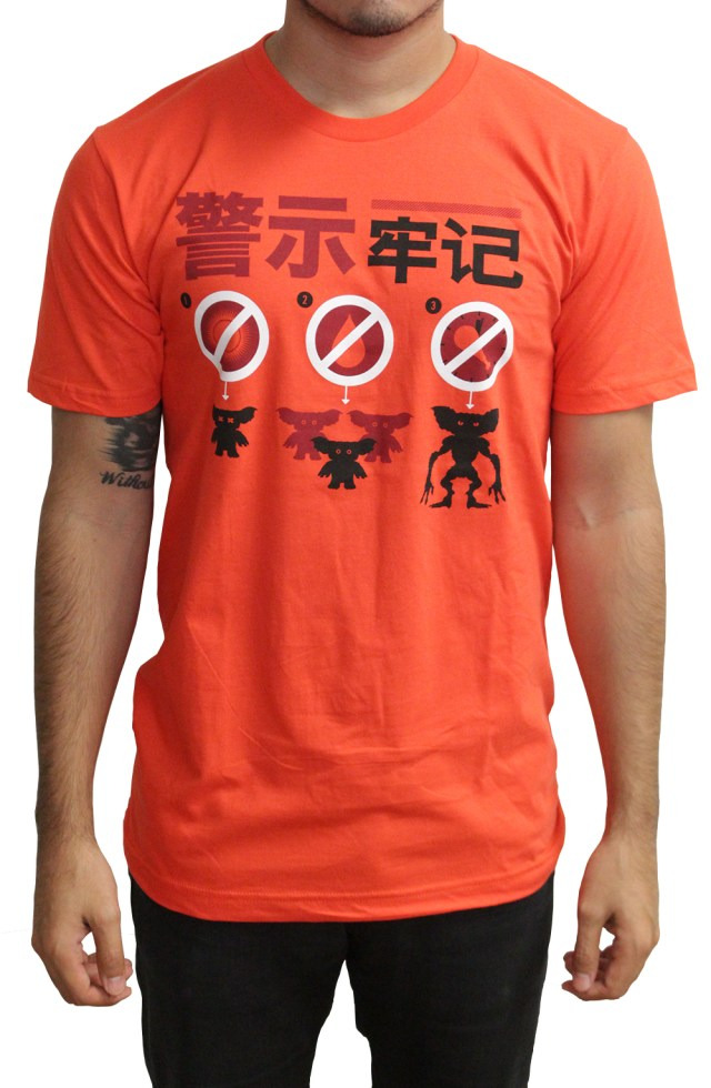 「グレムリン」Tシャツ Gremlins T-Shirt.  Designed by Tom Whalen.  Printed by Industry Print Shop on American Apparel shirts.  US$30