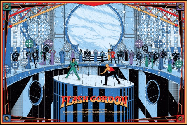 """Flash Gordon  by Kilian Eng.  36""""x24"""" screen print. Hand numbered. Edition of 300.  Printed by D&L Screenprinting.  US$50"""