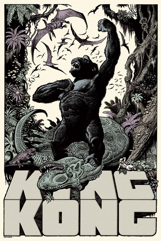 「キングコング」 King Kong by William Stout Edition of 325 US$50