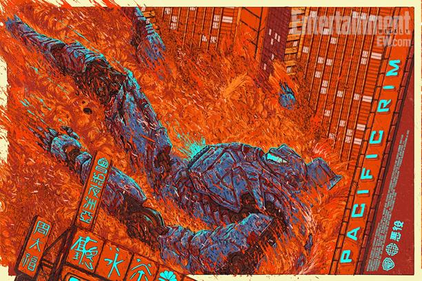 """「パシフィック・リム(イエーガー)」PACIFIC RIM (Jaeger) by Ash Thorp Size: 24"""" x 36"""" Edition: 350 US$50"""