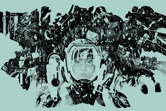 """「パシフィック・リム(ライトブルー)」Pacific Rim (Light Blue colorway) Poster by Vania Zouravliov. 24""""x36"""" screen print. Hand numbered.  Edition of 145. Printed by D&L Screenprinting.  US$50"""