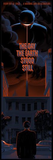 """「地球の静止する日」 The Day the Earth Stood Still Poster by Laurent Durieux.  24""""x36"""" screen print. Hand numbered. Edition of 325.  Printed by D&L Screenprinting.  US$55"""