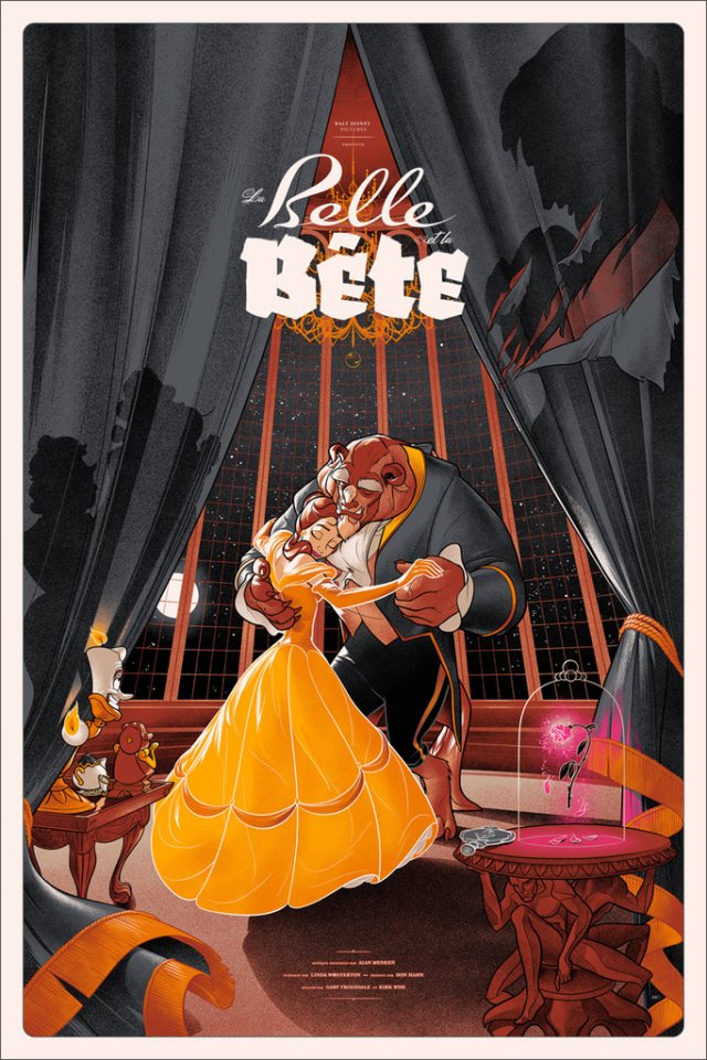 「美女と野獣 バリアント」Beauty and the Beast Variant Poster by Martin Ansin