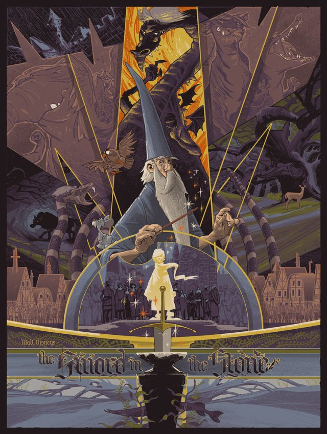 「王様と剣」The Sword in the Stone Poster by Rich Kelly