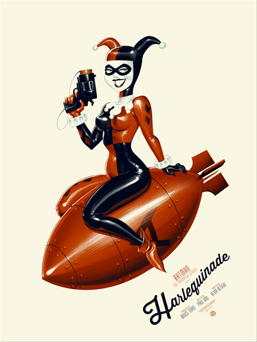 """Harlequinade Poster by Phantom City Creative. 18""""x24"""" screen print. Hand numbered. Edition of 375.  Printed by D&L Screenprinting.  by D&L Screenprinting."""