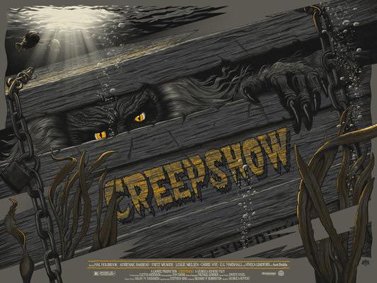 """「クリープショー」バリアント Creepshow Variant Poster by Mike Saputo.  24""""x18"""" screen print.  Hand numbered. Edition of 150.  Printed by D&L Screenprinting.  US$60"""