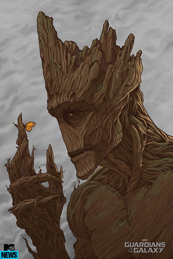 「グルート」レギュラー Groot (Regular) Poster by Randy Ortiz 24″ x 36″ Edition of 300 $45